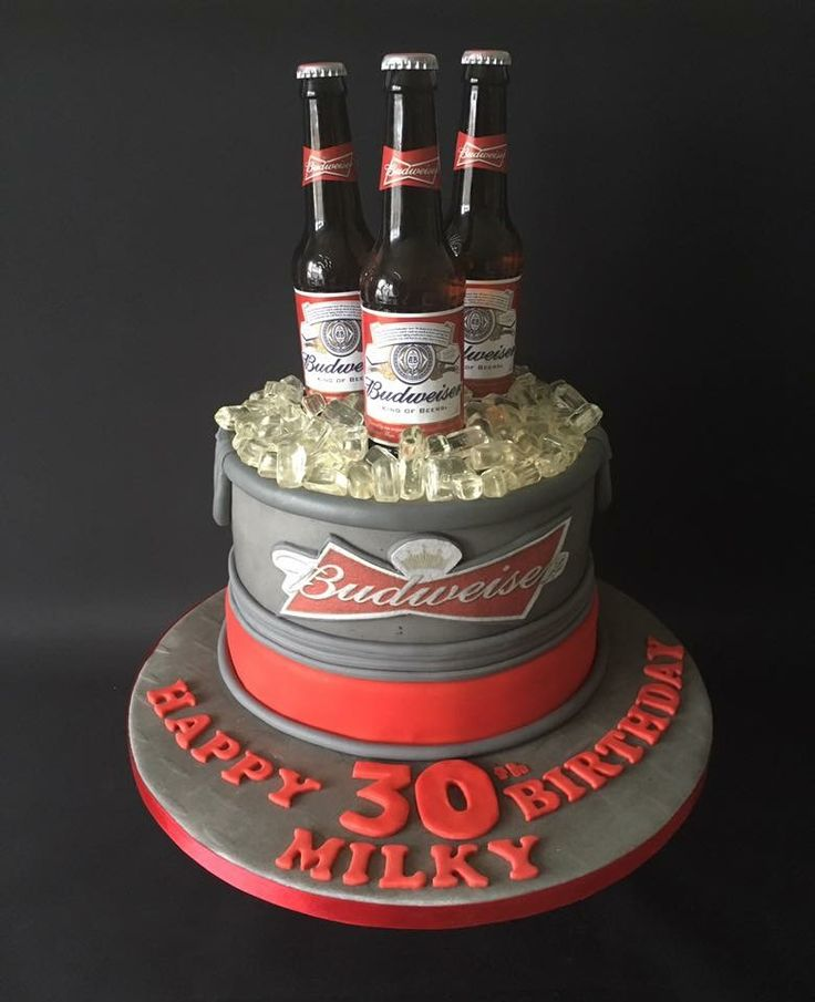 Budweiser Beer Can Cake