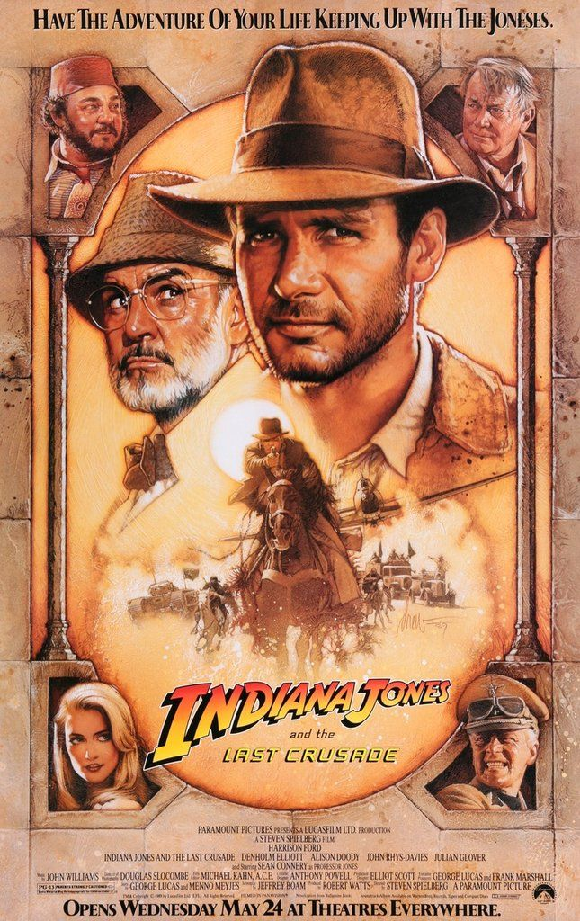 Indiana Jones And The Last Crusade 1989 Indiana Jones Last Crusade Indiana Jones Movie Posters Vintage