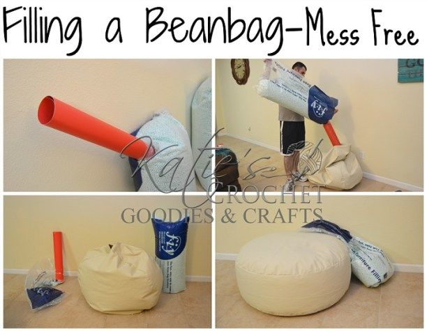 how to fill a bean bag