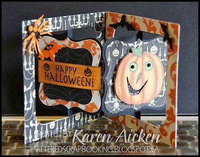 Altered Scrapbooking: Halloween Accordian Flip Card