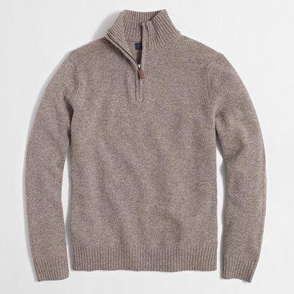 Slim lambswool half-zip pullover sweater