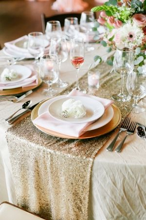 Gold Sequin Table Linen | photography by http://jennahenderson.com
