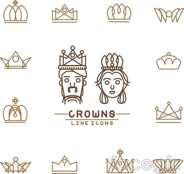 Crown logo vector                                                                                                                                                                                 More