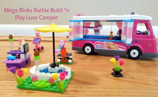 Mega Bloks Barbie Build 'n Play Luxe Camper #BarbieCamper