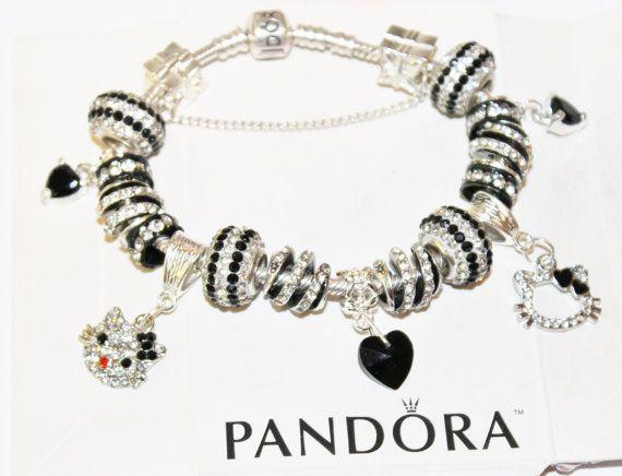 Black White Hello Kitty authentic Jared Pandora by xdempseyx