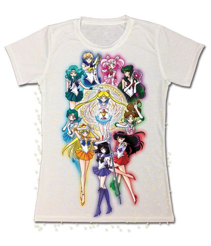 @Kristin West Moon Official Sailor Moon t-shirt featuring Sailor Moon, Inners, Outers and Mini Moon! http://moonkitty.net/buy-new-sailor-moon-tshirts.php #SailorMoon