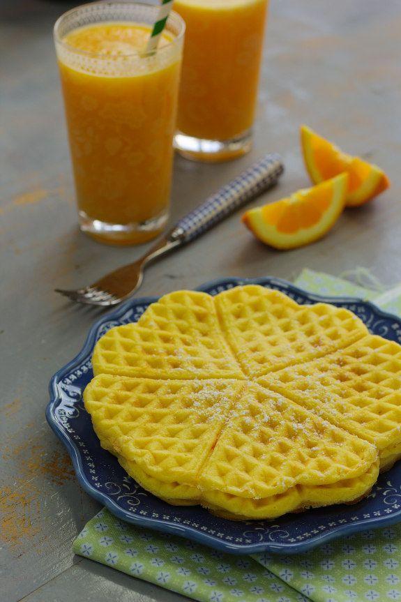 Cinco Quartos de Laranja: Waffles de cenoura
