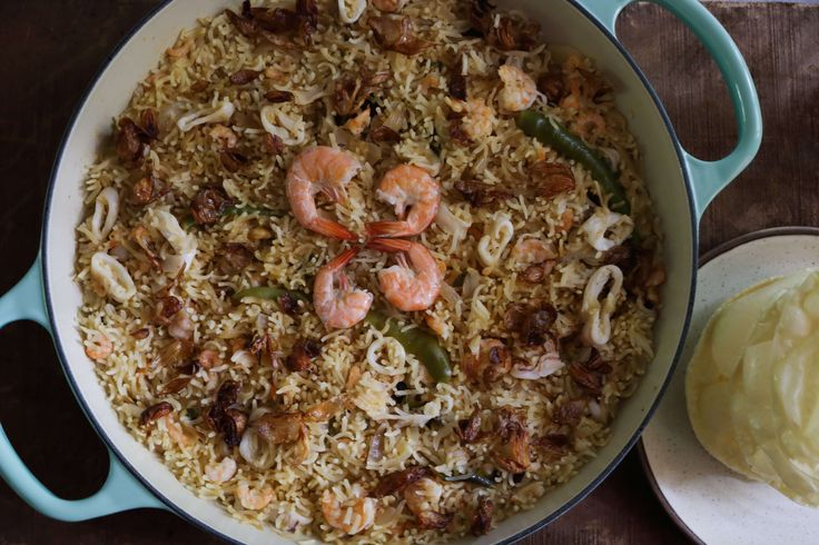 Seafood Coconut Pulao (Pilaf)