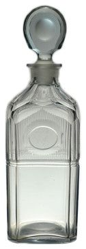 Consigned Square Cut Glass Whisky Decanter circa 1790, Antique English Georgian traditional-decanters