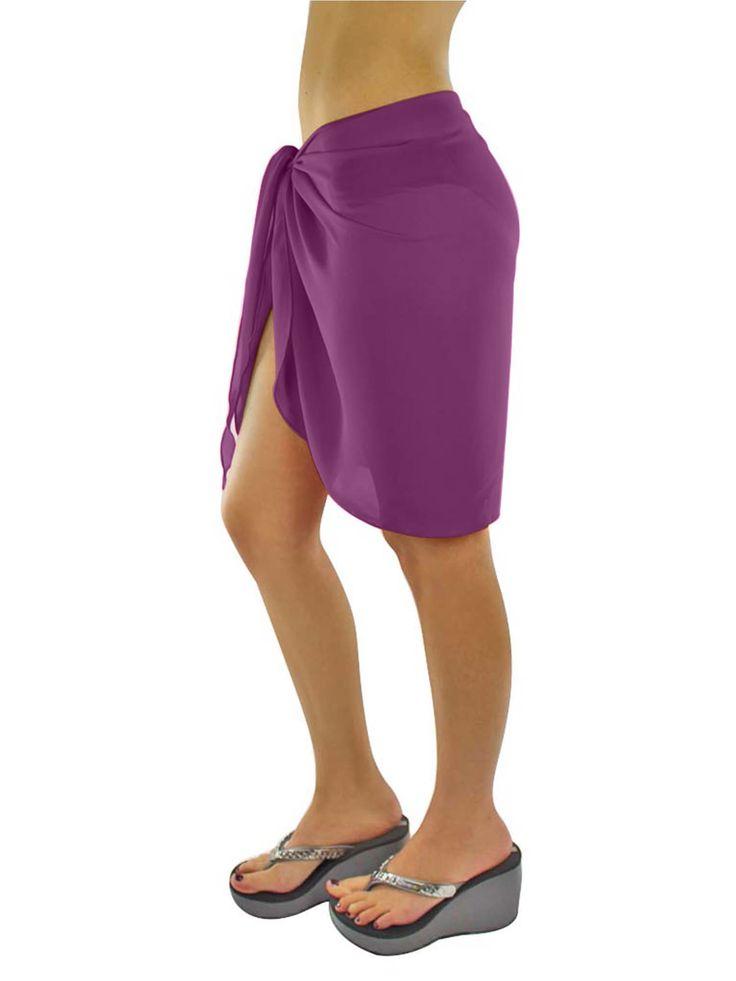 Luxury Divas Womens Short Sarong Wrap Cover Up