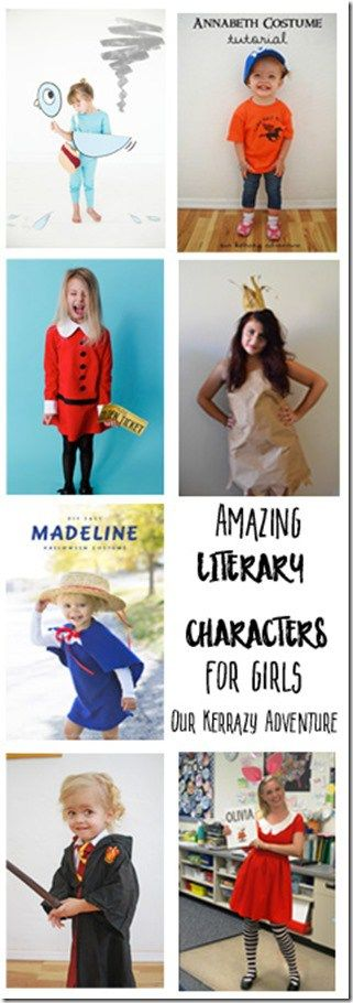 Amazing Literary Characters for Girls- Our Favorite Girl Book Costumes- Perfect for Book Week or Halloween