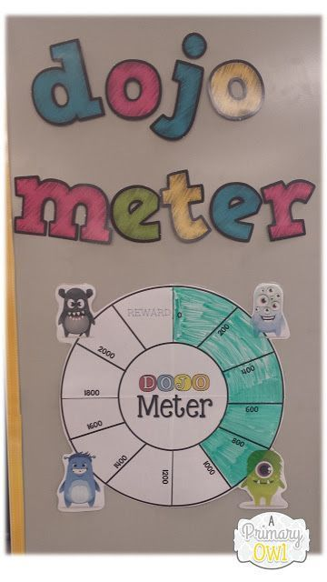 Do you use Class Dojo?Check out this Dojo Meter for tracking behavior