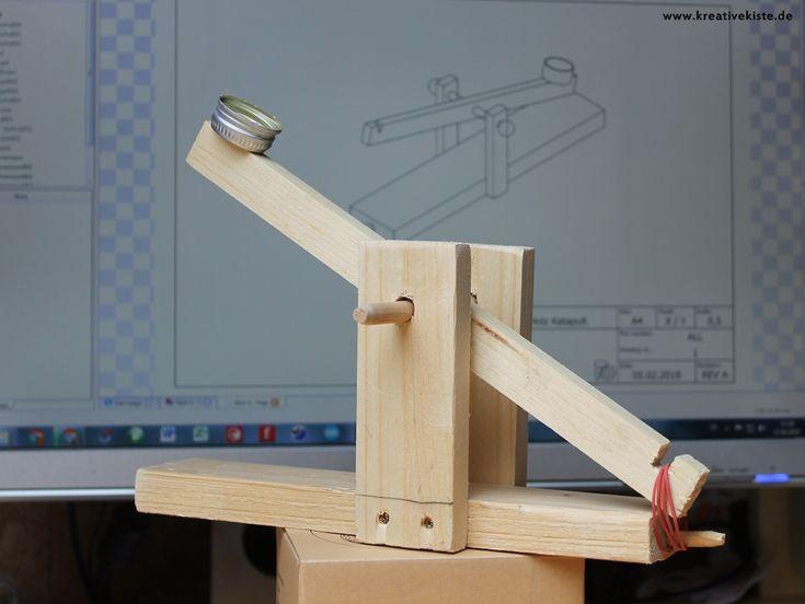1 Holz Katapult Einfache Projekte Fuer Kinder Basteln
