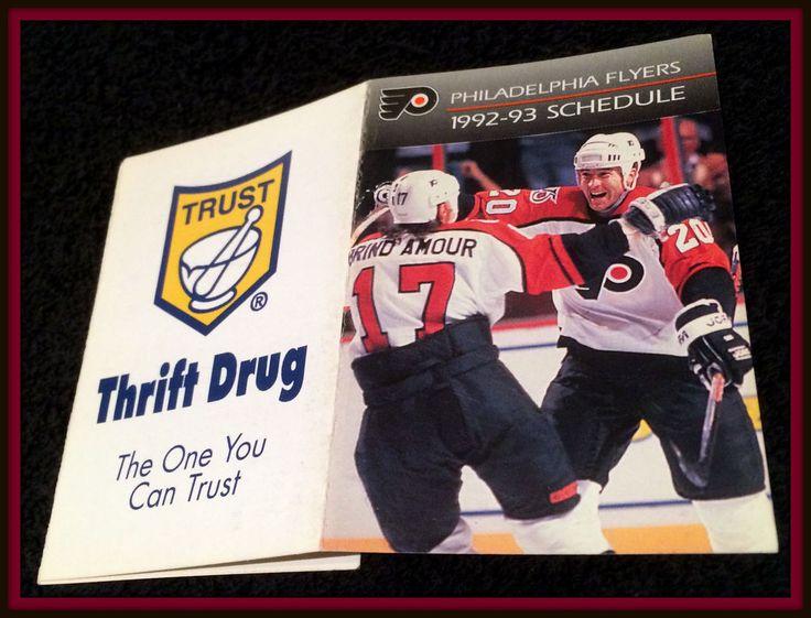199293 PHILADELPHIA FLYERS THRIFT DRUG HOCKEY POCKET