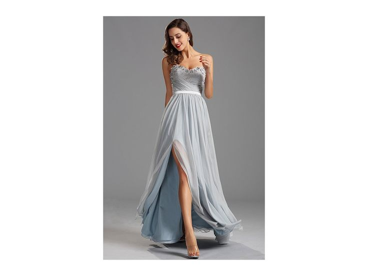 Elegantní plesové šaty bez ramínek šaty bez ramínek skládaný živůtek živůtek má všitou podprsenku zip na zadní straně délka šatů 155 cm (od ramene k přednímu lemu)
