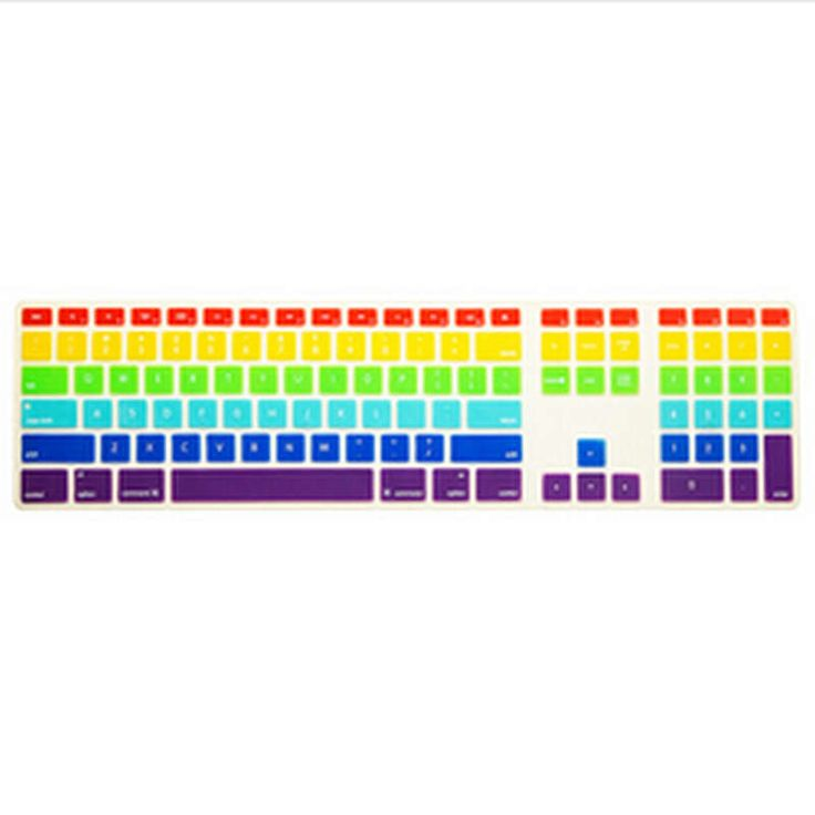 Rainbow Computer Desktop Silicone keyboard Cover Skin Protector with a numeric keypad for Apple iMac G5/G6 MB110LL/A #Affiliate