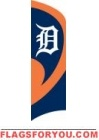 Tigers Tall Team Flag 8.5' x 2.5'