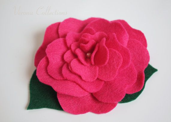 Felt Flower Brooch by Verona Collections, created with Eco Felt
