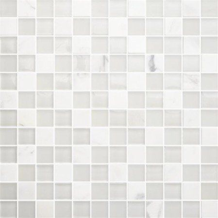Bricmate T White Mix Carrara Mosaik