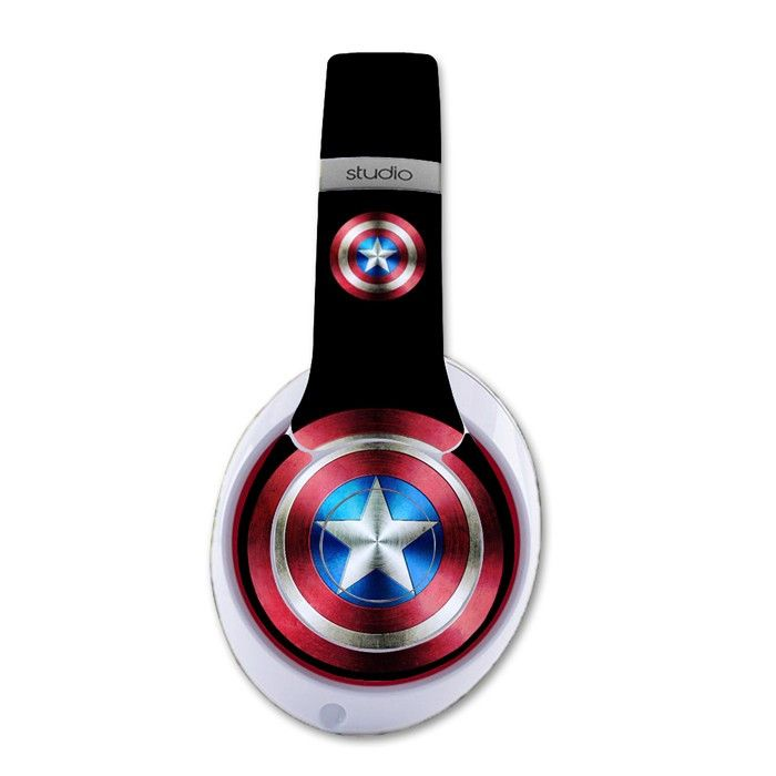 Captain America decal for Monster Beats Studio 2.0 wireless headphones