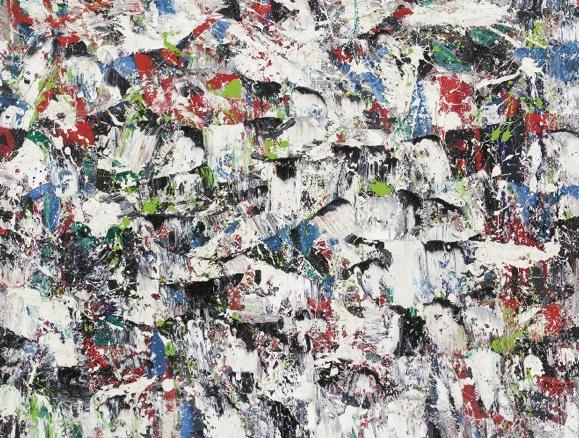 "One of the best known Quebec artist.  Paul-Émile Borduas,    ""Froissement multicolore""  1955. Follow the biggest painting board on Pinterest: www.pinterest.com/atelierbeauvoir"