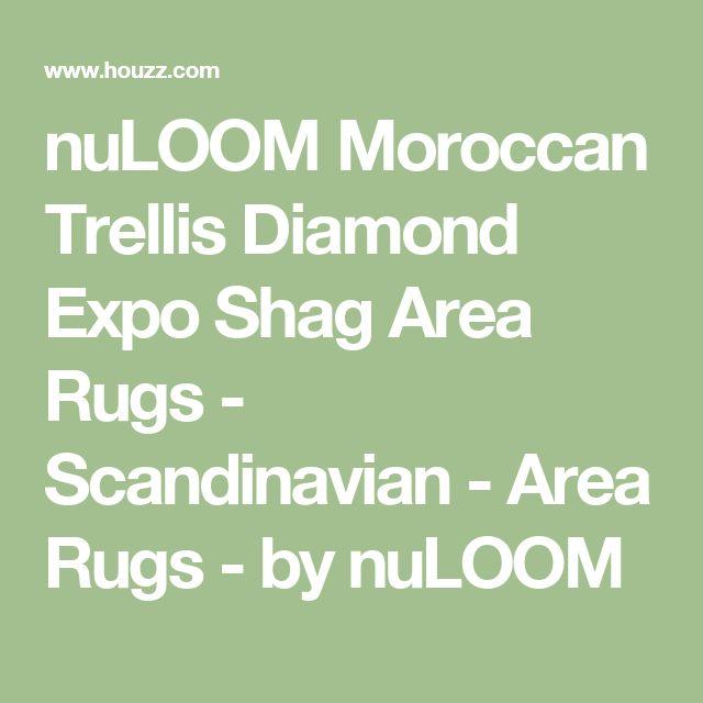 nuLOOM Moroccan Trellis Diamond Expo Shag Area Rugs - Scandinavian - Area Rugs - by nuLOOM