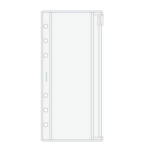 リフィル 6穴 システム手帳 リフィル knox リフィル ノックス。KNOX ノックス システム手帳用リフィル【 ナロー 】ファスナー付クリアポケット(6穴…