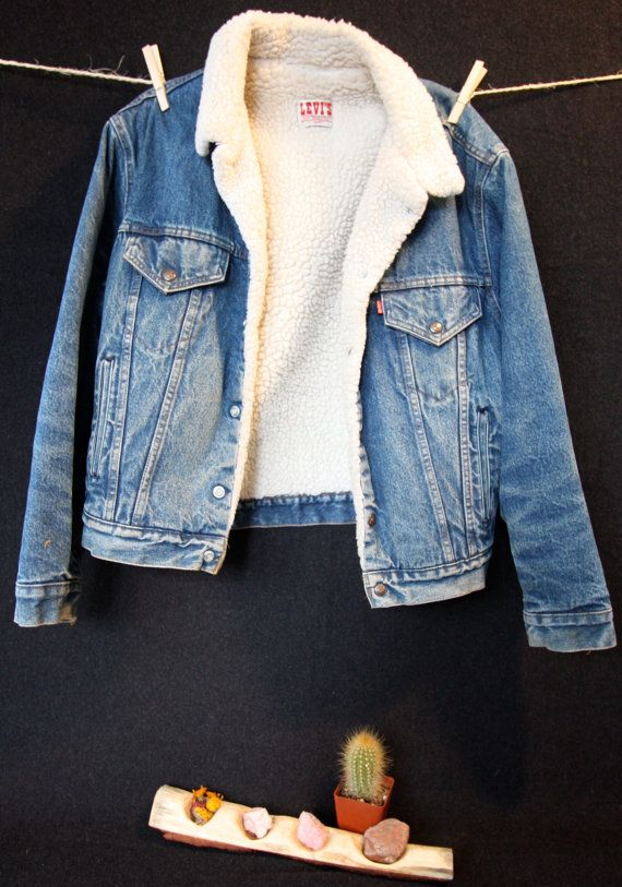 5f476be70870 Levi's Vintage Sherpa Lined Jean Jacket by OursVintage on Etsy | Wanting in  2019 | Fashion, Lined jeans, Jackets