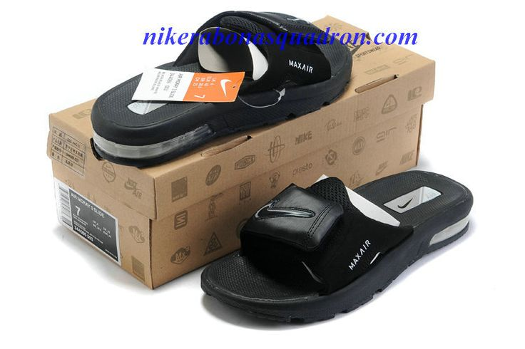 free shipping b79ee c07ce ... 3 slide mens Nike Air Moray Slide Black Metallic Silver 344086 003 Air  Shoes Pinterest ...