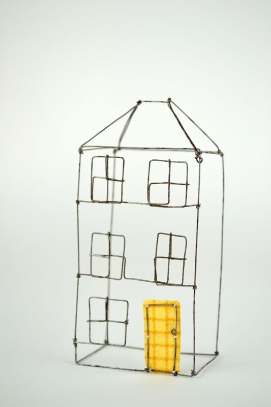 Large wire house by Louise Dawn Wilson.