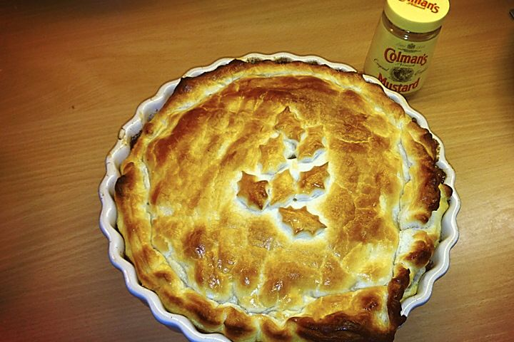 Beef and Guinness Pie.  This is a great recipe for celebrating St Patrick's Night.  Check it out on bare ingredients web site!