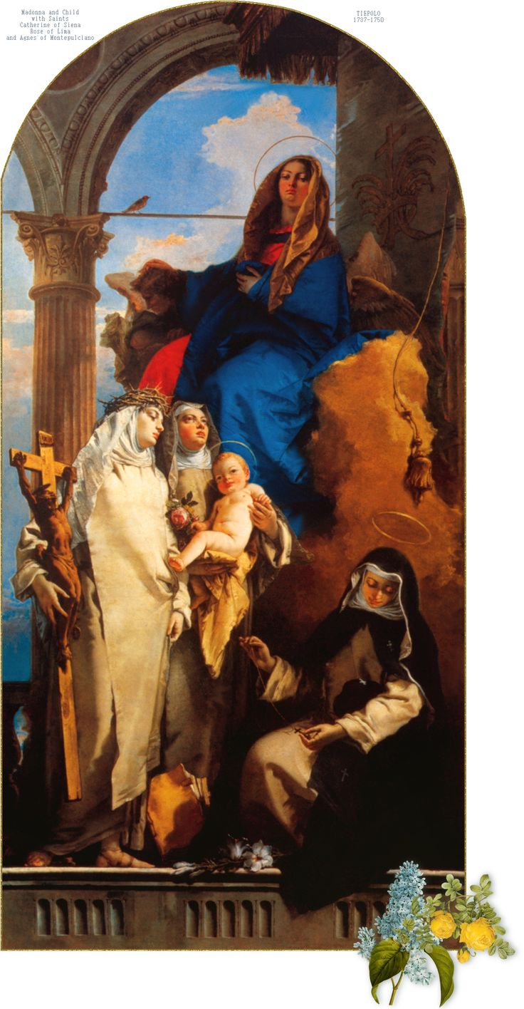 The Virgin with Sts. Catherine of Siena, Rose of Lima and Agnes of Montepulciano  TIEPOLO 1737-1750