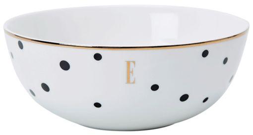 ELLE – Black Polka Dot Cereal Bowl