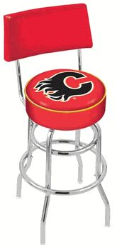 Calgary Flames Seatback Bar Stool - click image to enlarge
