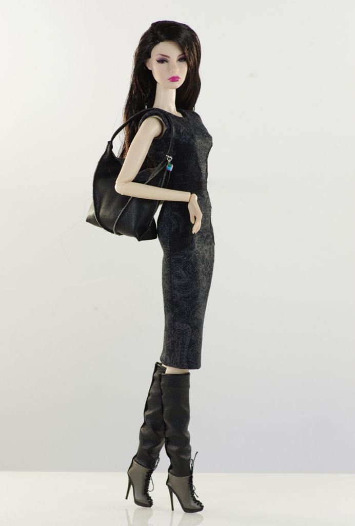 prepare for (FR2 body) set inc.: coat, dress, bag, shoes.