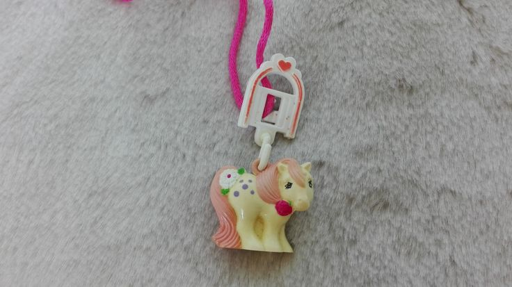My pixie pony necklace charmkins Hasbro dufti dufty  charm   - 1980s , vintage toy charm , pimpi rosa by MetalmanEd on Etsy