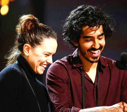 Daisy Ridley was spotted during rehearsals for the 88th Annual Academy Awards alongside 'Only Yesterday' co-star Dev Patel and 'Star Wars: The Force Awakens' director J.J. Abrams on February 27, 2016.