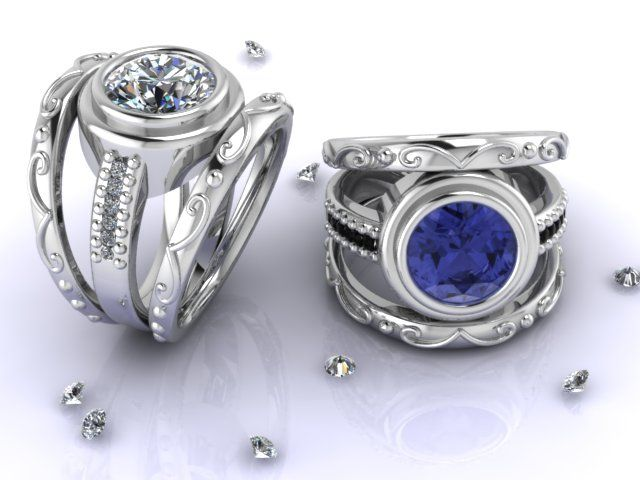 Sensational CAD rings in silver designed by Fia Fourie