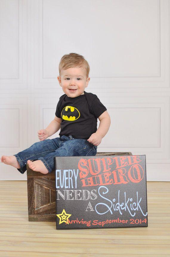 Every Superhero Needs a Sidekick Pregnancy by MMasonDesigns, $15.00