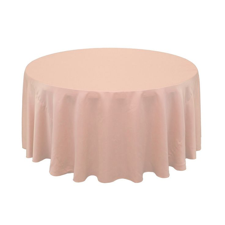 120 inch round lamour tablecloths in blush for weddings at discount wholesale rates buy table cloths online or call for bulk orders - Discount Table Linens