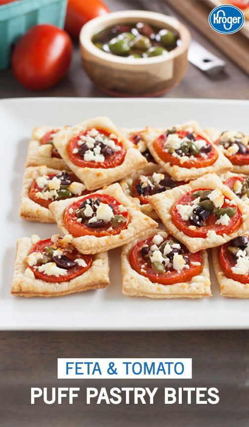 Why not put a Mediterranean twist to your graduation party menu?! This recipe from Inspired Gathering for Feta and Tomato Puff Pastry Bites is the perfect savory appetizer to add to the celebration. It's so easy to make big batches of these bites too!