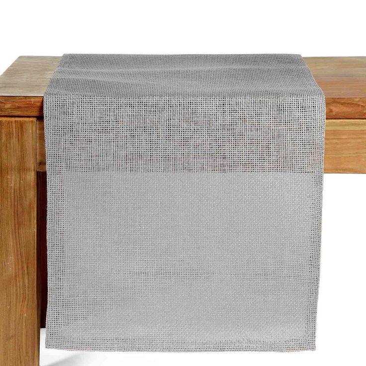 Tischläufer grau ca 40x150cm