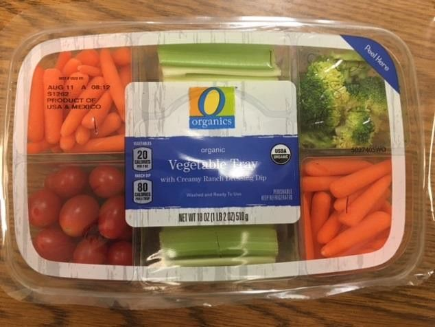 Mann Packing is recalling 844 cases of 18-oz. O Organics Organic Vegetable Tray with Creamy Ranch Dressing Dip. The product contains egg, milk and