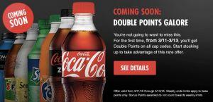 My Coke Rewards: Double Points on Cap Codes 3/11-3/13! - http://www.couponaholic.net/2015/03/my-coke-rewards-double-points-on-cap-codes-311-313/