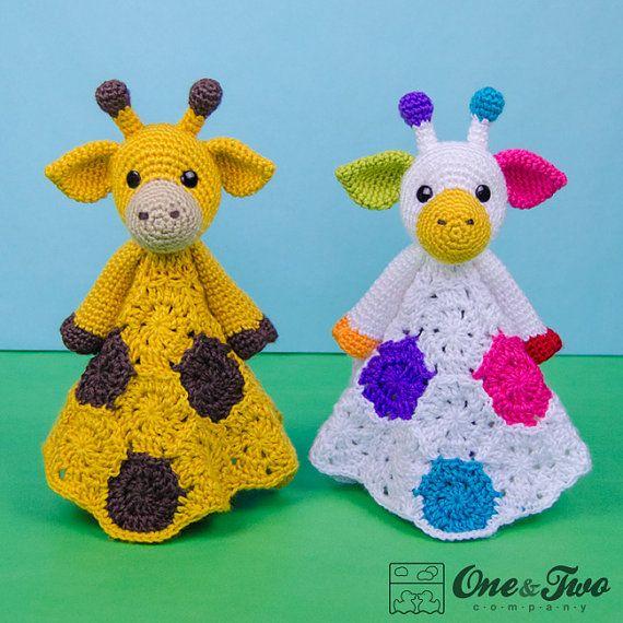 Geri the Giraffe Lovey / Security Blanket - PDF Crochet Pattern - Instant Download - Blankie Baby Blanket