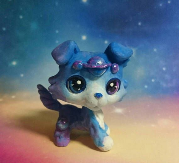 Lps dog Colley collie custom space planet light