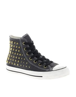 Converse+All+Star+Collar+Studs+High+Top+Trainers