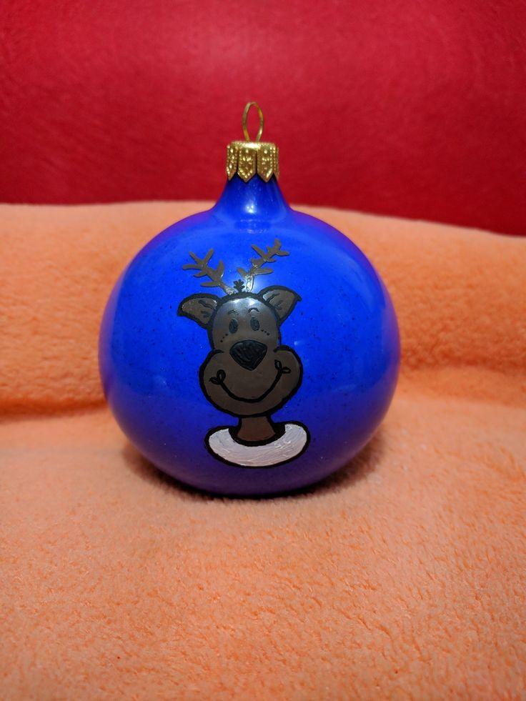 Glob pictat manual  IT Reindeer #christmasdecoration #paintedglobes #itreindeer #labuhuhu