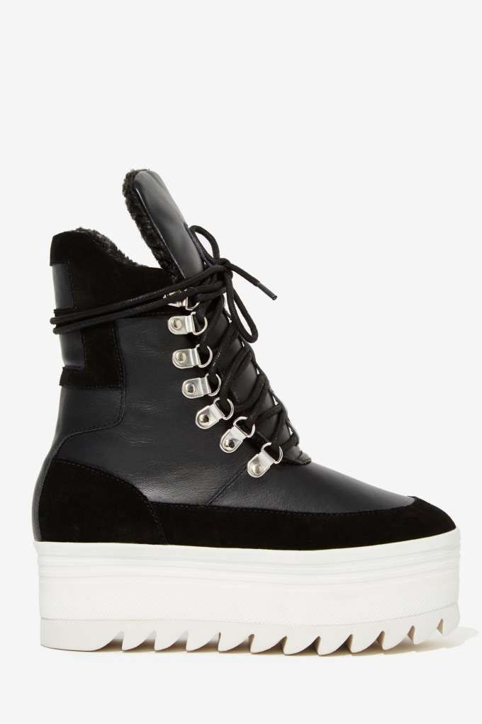 Great price ALL BLACK Side Scoop Bootie Womens Black Official Winter Network outlets