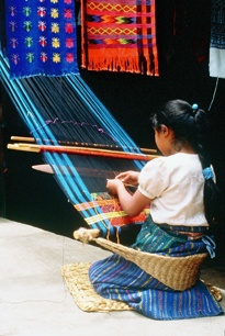 Guatemala: The textiles of the Maya women are so beautiful. Still done on traditional looms, each stich, every pattern is a symbol: the corn, the mountains, the forests.